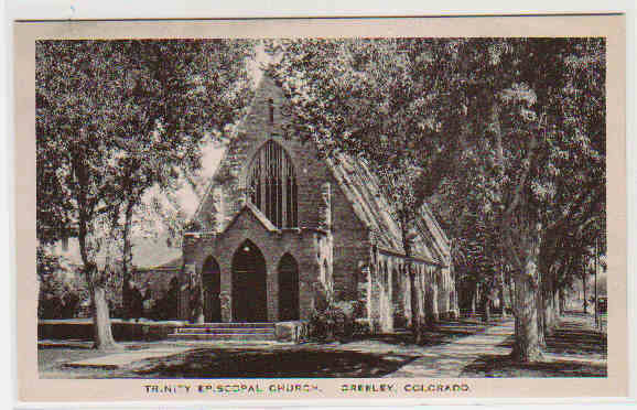 Trinity Episcopal Church Greeley Colorado Albertype postcard