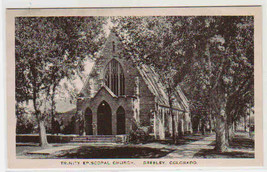 Trinity Episcopal Church Greeley Colorado Albertype postcard - $6.44