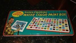 Vintage Jon Gnagy's Super-Colossal Water Color Paint Box tin - $31.01