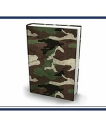 Extreme Book Sox Cover Green Camo Stretch Fabric NIP - $10.88
