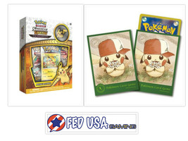 Pokemon Shining Legends Pikachu Pin Collection Box + Pikachu Card Sleeve... - $34.99