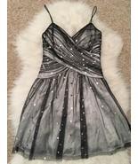 Hailey Logan by Adrianna Papell Women's Dress 5/6 Black Overlay Beaded P... - $39.59