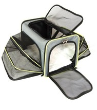 Small Pet Carrier Bag Puppies, Small Dogs, Cats Airline W Travel Bowl Gr... - $32.30