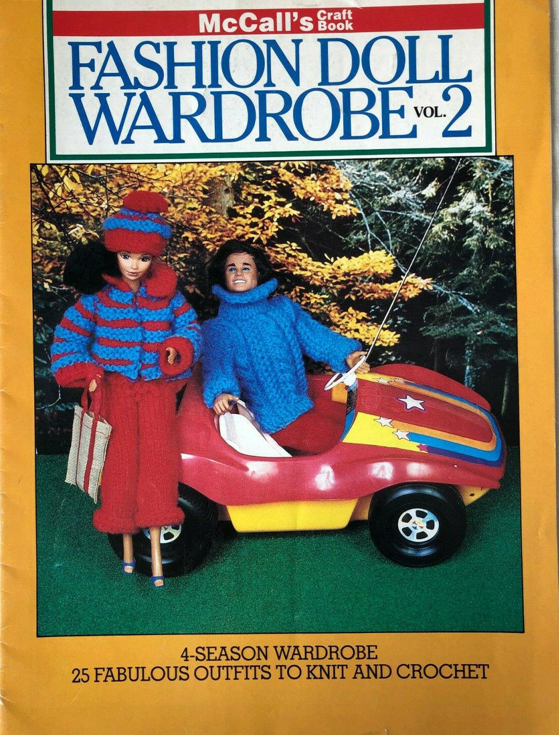 1982 Fashion Barbie Doll Wardrobe Vol 2 McCall's Knit & Crochet Book 25 Outfits - $19.95