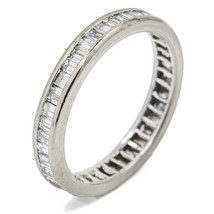 2.00 Carat 18k White Gold Baguette Diamond Channel Set Eternity Band Ring - $2,303.00