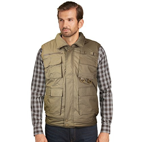 Men's Multi Pocket Zip Up Military Fishing Hunting Utility Tactical Vest (4XL, K