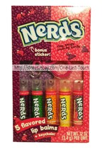 LOTTA LUV 7pc Lip Balm/Gloss Set NERDS Keychain+Sticker TINY+TANGY CANDY... - $8.99