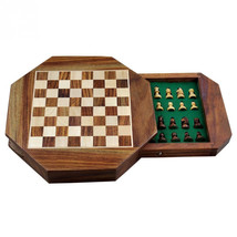 Varmohey Wood Magnetic Travel Chess, Chessmen Set and Wooden Board Trave... - $59.00