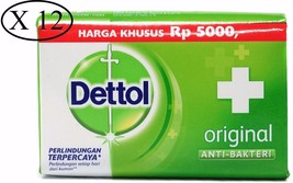 12 X Dettol ORIGINAL Anti-Bacterial Hygiene Hand and Body Bar Soap 105g ... - $17.99