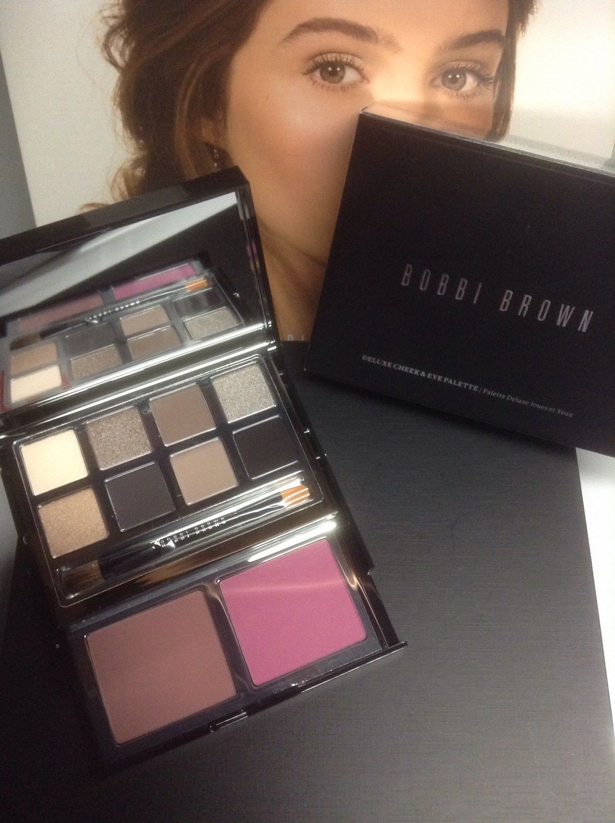 Primary image for Bobbi Brown Deluxe Eye and Cheek Palette - Ltd Ed Rare Htf Full Size NEW In Box