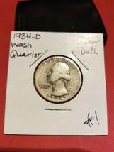 1934 Washington Silver Quarter!!! Nice Coin!!! 90% Silver!!! - $9.90