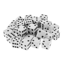 Super Z Outlet Standard 16mm White Dice with Black Pips Dots for Board G... - $11.68