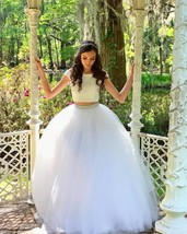Cap Sleeves Ball Gown Beaded Tulle Wedding Dress  - $169.90