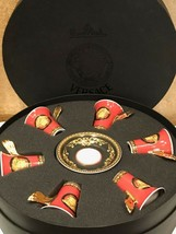 Versace by Rosenthal Ikarus Red Medusa Set with 6 espresso c/s NEW - $1,024.65