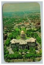 Vintage 1960 Postcard Aerial View Civic Center Capitol Building Denver C... - $17.07
