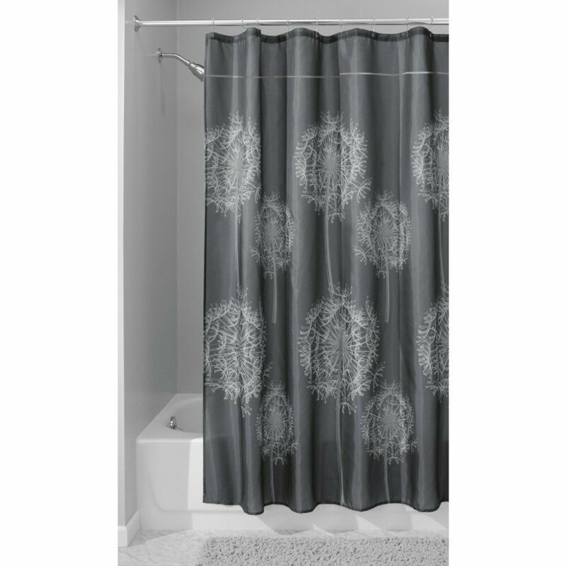 Interdesign Dandelion Fabric Shower Curtain Water-Repellent And Mold- And Mildew