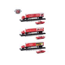 Auto Haulers Coca-Cola Release, 3 Trucks Set 1/64 Diecast Models by M2 M... - $97.52