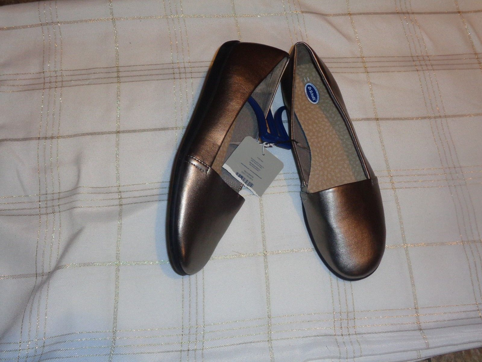 a0cc6d791331 new womens dr scholl s pewter slip on flats shoes size 9 -  16.81