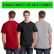 Fruit of the Loom Men's Heavyweight Cotton T-Shirts Lot of 8 Multi-Color Size M
