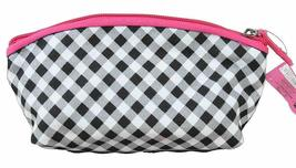 Hello Kitty Sanrio Gingham Bow Cosmetic Bag Makeup Case Bag NEW image 3