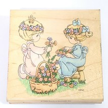 Precious Moments Rubber Stamp Friendship Blooms Rubber Stampendous 1995 Flowers - $10.12