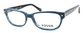 Fossil FOS 7009 38I Women's Eyeglasses Frames 50-16-140 Blue Horn + CASE - $79.00