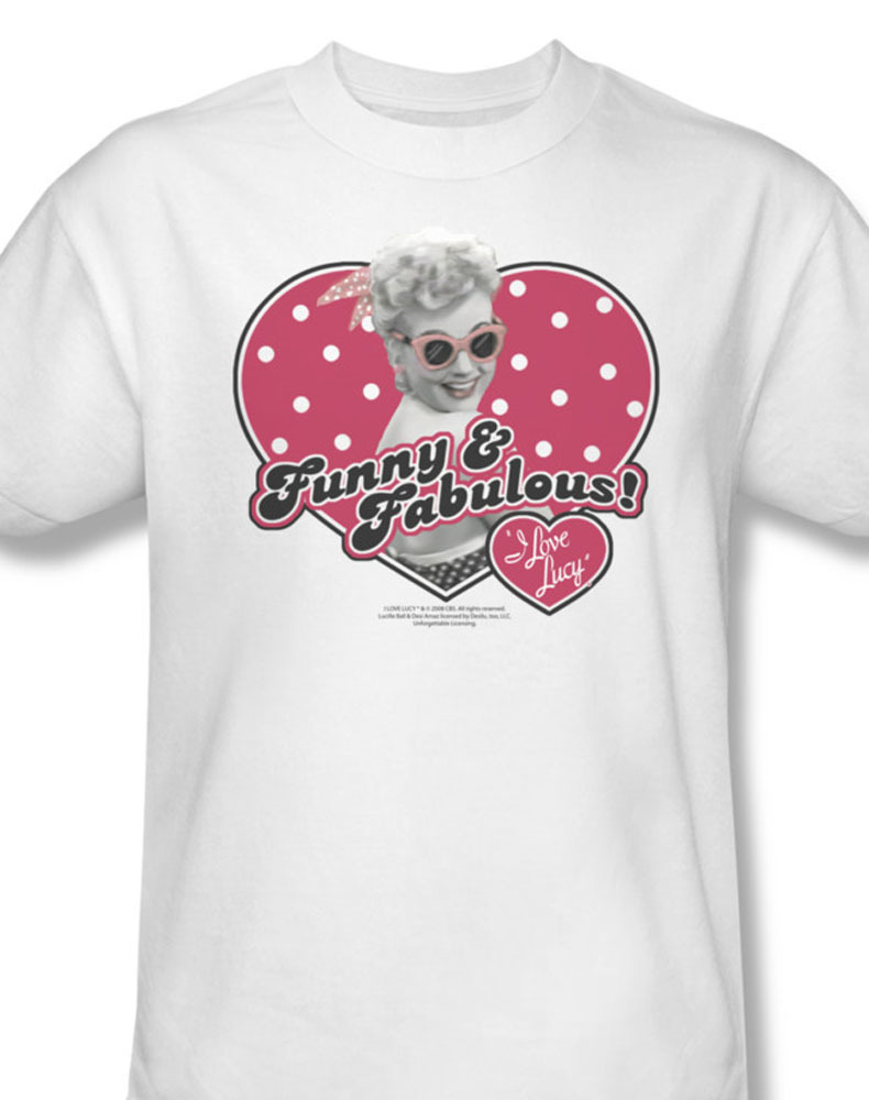 love lucy funny and fabulous desi arnaz lucille ball for sale online graphic white tee lb169 at