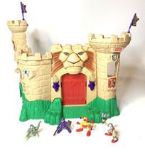 Vintage 90's Fisher Price Great Adventures Magic Lion Castle w/ Sounds 4 Figur - $79.20