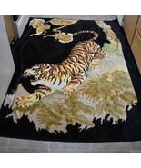 San Marcos Tiger Reversible Reverse Image Throw Blanket 86.5x68.5 - $148.49
