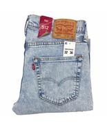 Levi's 512 Slim Taper Men's Jeans 32 x 36 'Spellbound' Light Blue Stretc... - $35.49