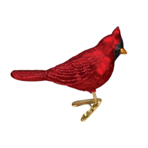 Old World Christmas Matte Northern Cardinal Glass CLIP-ON Xmas Ornament 18044 - $8.88