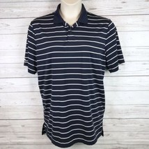RLX Ralph Lauren Golf Polo Shirt Men's L Short Sleeve Blue White Striped - $24.99