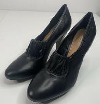 Coach ADRA 10B black leather high heel Ankle Booties Boots Worn Twice i11 - $59.30