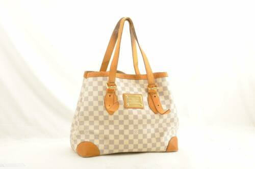 LOUIS VUITTON Damier Azur Hampstead MM Shoulder Tote Bag N51206 LV 10487 JUNK