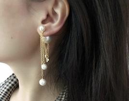 AUTH Christian Dior 2019 DIOR TRIBALES Multi Chain Dangle CD Logo Drop Earrings  image 7