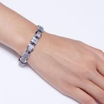20.5cm long rectangle Bracelets & Bangles setting white tiny crystal sil... - $64.20