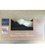 Loft Living Women's Ultra-Soft Memory Foam Slippers XL NEW in box Black ... - $19.59