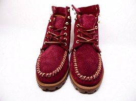 SEBAGO EXO Bordeaux Nubuck Suede  B50130 Lace Up Lug Sole Ankle Boots S... - $58.04