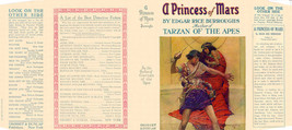 Burroughs, Edgar Rice A PRINCESS OF MARS facsimile jacket for 1st Grosse... - $21.56