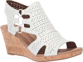 Womens Rockport Cobb Hill Janna Wedge Sandal - White Leather Size 7 [CH4865] - $84.99