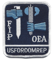 """3.25"""" COMBINED FORCES DOMINICAN REPUBLIC FIP OEA EMBROIDERED PATCH - $23.74"""