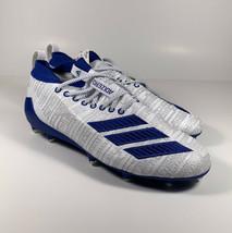 ADIDAS Adizero 8.0 Three Stripe Football Cleats White Blue Sz 12 *NEW* G... - $66.02