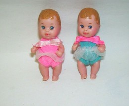 1985 Barbie Baby Sister Krissy Pink and Blue Lot of Two - $28.04