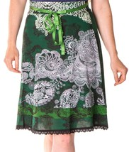 Beautiful Desigual Deliney Knee Length 60cm Green Skirt Size L - $55.45