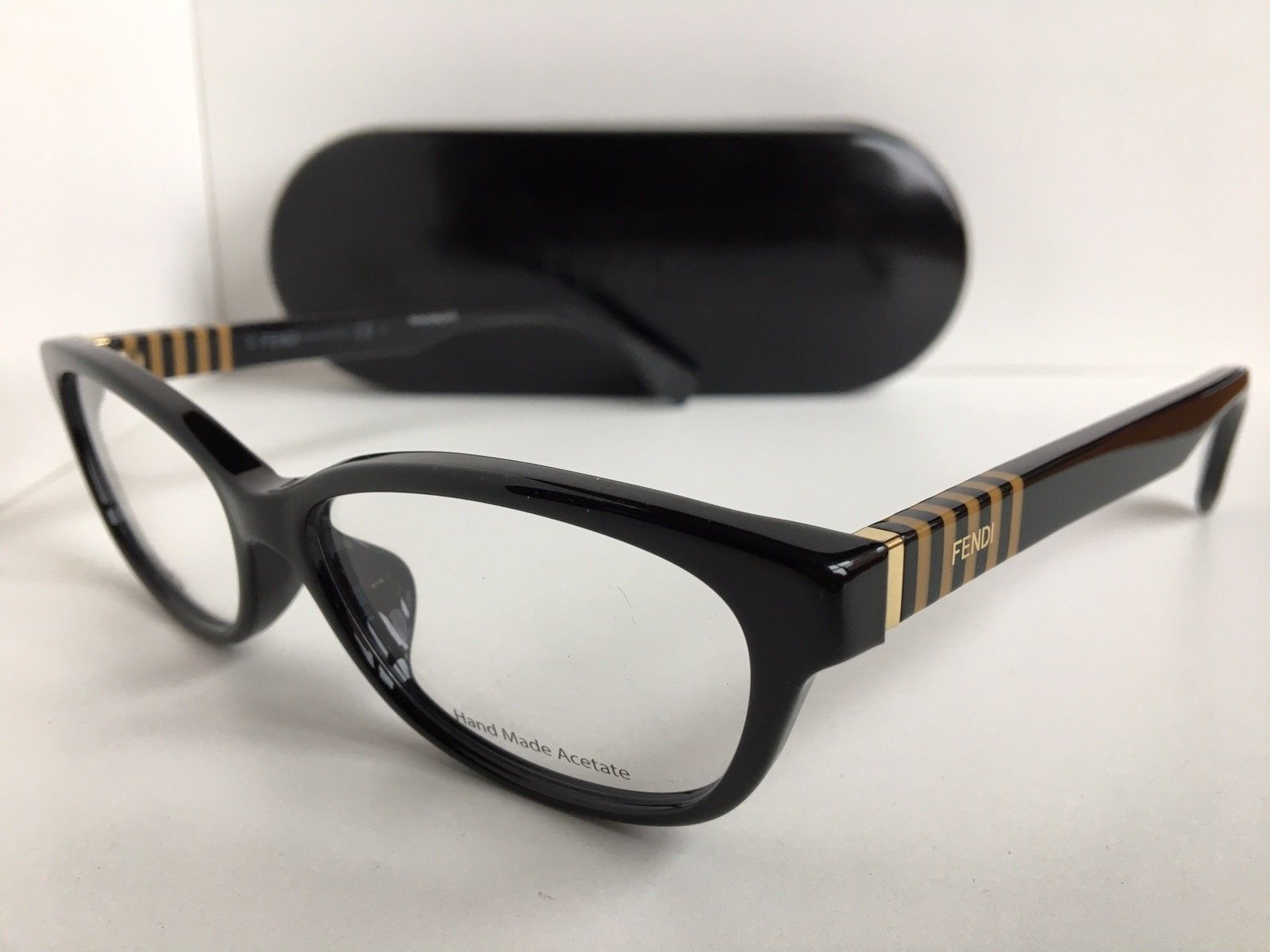 Primary image for New FENDI FF 0072/F 7SY 53mm Black Rx Women's Eyeglasses Frames Italy