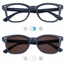 Blue Light Blocking Glasses, Photochromic Brown Sunglasses, Anti UV, Anti Glare  image 6