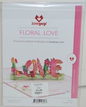 Lovepop LP2318 Floral Love Pink Pop Up Card White Envelope Cellophane Wrapped image 8