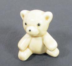 Miniature Bug House China Teddy Bear Tan Has Sticker Taiwan - $6.76