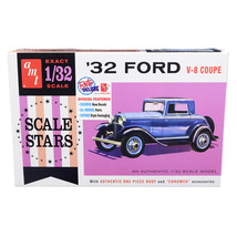 Skill 2 Model Kit 1932 Ford V-8 Coupe Scale Stars 1/32 Scale Model by AMT AMT118 - $35.33