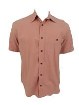 Woolrich Shirt Size M Medium Brown Plaid Button Front Short Sleeve Casual - $19.75
